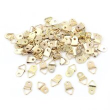 10/100PCS Golden Triangle D-Ring Picture Frame Hooks