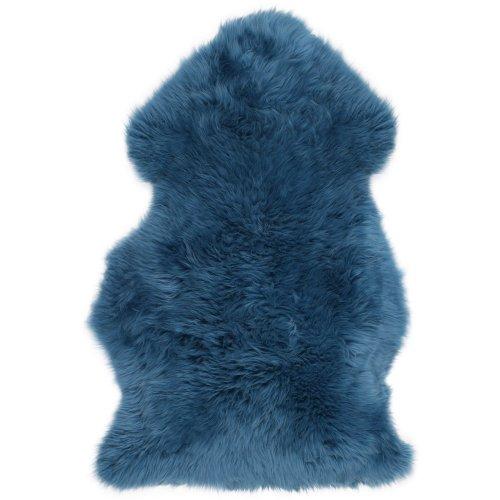 Lambland Super Soft Large Real Genuine Sheepskin Rug in Mid Blue