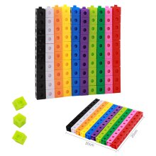 100 x 2cm Maths Link Cubes Counting Snap Block Toy