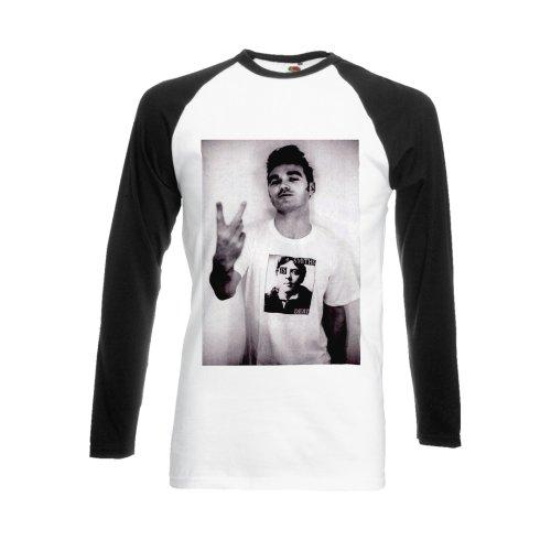 The Smiths Morrissey Steven Patrick Swearing Black/White Men Women Unisex Long Sleeve Baseball T Shirt