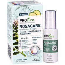 PROcure Rosacare Gel, 2 oz, Medicated Skincare Treats Redness; Hyalurnoic Acid, Redness reducing Licorice & Instant Redness Reduction CC Cream. Suitab