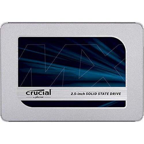 Crucial MX500 500 GB CT500MX500SSD1(Z)-Up to 560 MB/s (3D NAND, SATA, 2.5 Inch, Internal SSD)