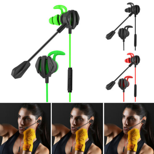 3.5mm Gaming In-Ear Stereo Headset Headphone Mic Earphone for Switch PS4 Laptop