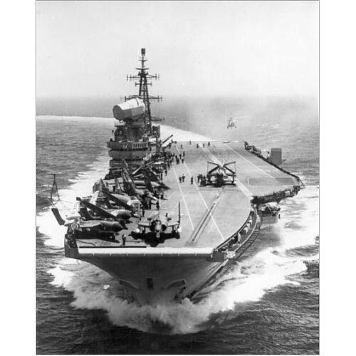 HMS Hermes (R12). Date: (Photographic Print)
