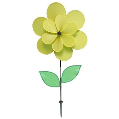 18 X 28 in. Double Petal Pinwheel, Yellow