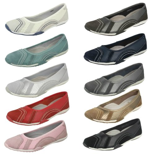 Ladies Down To Earth Flat Ballerina Shoes