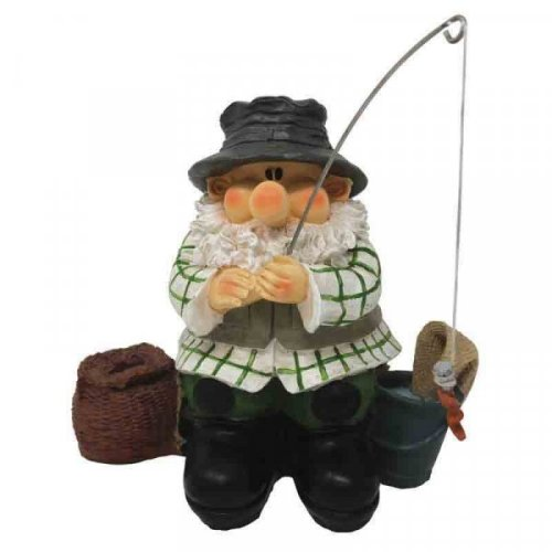 Fun Garden Ornament Wilf the Gnome Fishing ideal for pond , garden decor