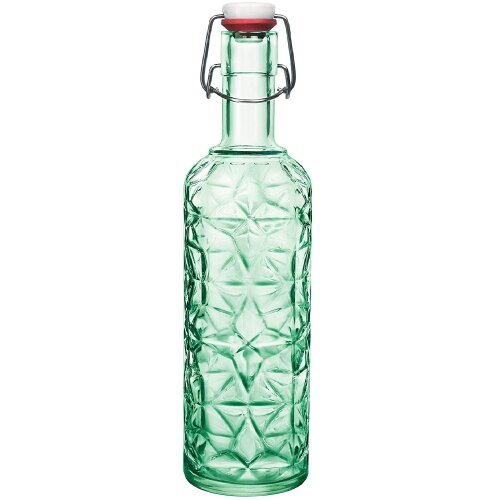 1000ML Glass Food Juice Drink Preserving Oil Bottle with Clip Top Airtight Lid