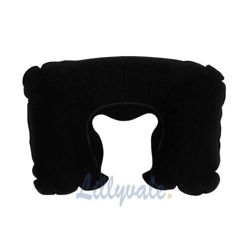 INFLATABLE TRAVEL PILLOW - BLACK