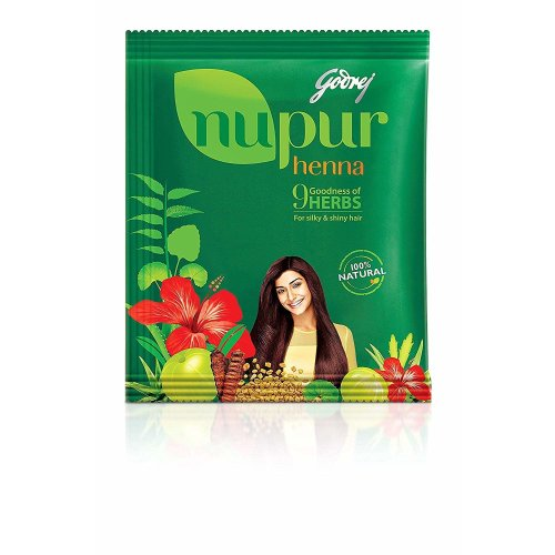 Godrej Nupur Henna Natural Mehndi for Hair Color 120gram X 3Packs