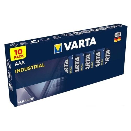 Varta AAA Industrial Alkaline Batteries LR03, MN2400, MICRO MINI,10