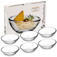 6x Glass Serving Bowl Dessert Dish Gift Set for Dips Spreads Sweets