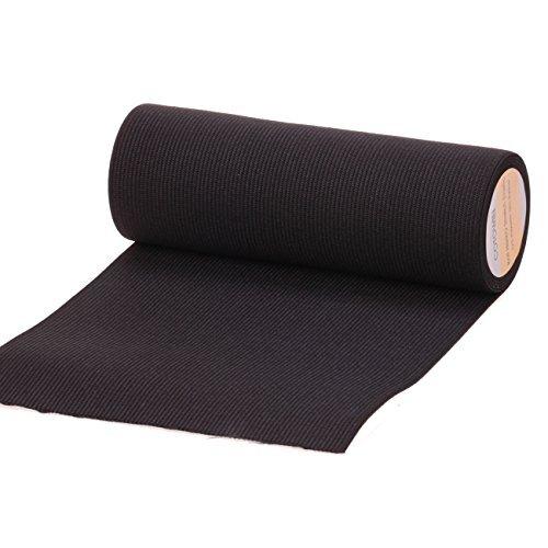 cOTOWIN 6 inch Wide Black Knit Heavy Stretch High Elasticity Elastic Band 2 Yard