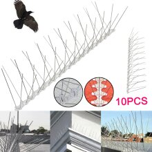 5M Pack of 10 Anti Bird Spikes Pigeon Scarer Wall Fence Deterrent Repeller UK