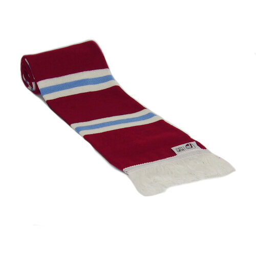 fan originals Retro Football Bar Scarf in Aston Villa Colours Claret Blue