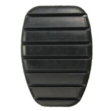 2Pcs Black Rubber Brake Clutch Pedal For Renault Megane Laguna Clio Kangoo