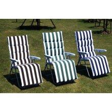 BIRCHTREE Pair of Garden Lounger Recliner Reclining Sun Chairs Relaxer Cushion