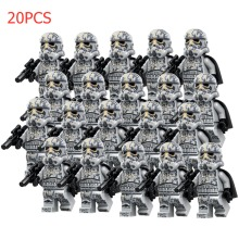 10PCS Blue Clone troopers Star Wars Minifigures Compatible with Lego