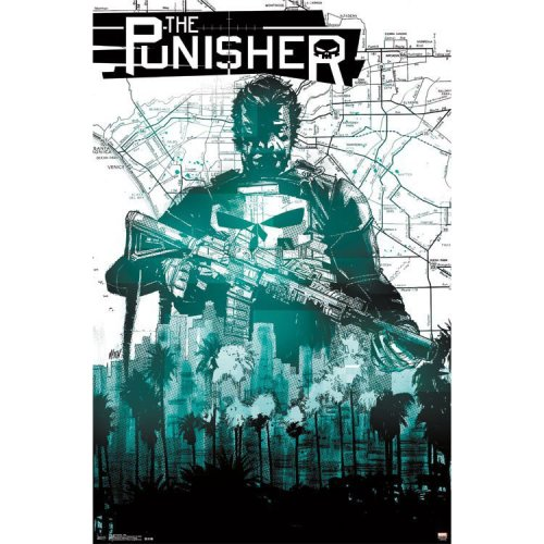 "Poster - Studio B - Punisher - Map 24""x36"" Wall Art p4300"