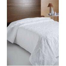White Florentina Metalasse Cotton Rich Bedspread