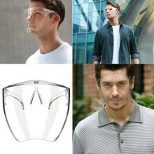 Safety Face Shield Protective Facial Cover Clear Glasses Visor PPE Mask
