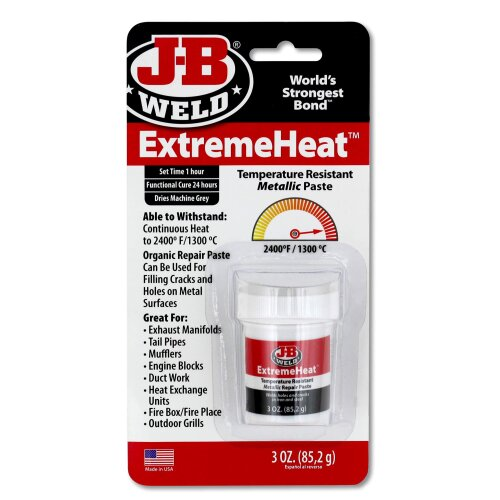 JB Weld 37901 ExtremeHeat High Temperature Resistant Metallic Paste-3 oz