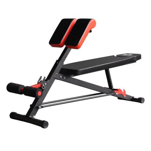 HOMCOM Multifunctional Hyper Dumbbell Bench Fitness Machine Black/Red