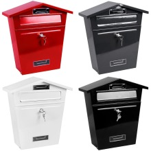 Classic Steel Post Box With Letter Box With Keys