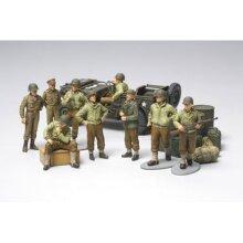 TAMIYA 32552 WWII US Army Infantry & Jeep 1:48 Military Model Kit