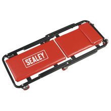 Sealey SCR78 Creeper/seat Steel with 6 Wheels Deluxe American Style