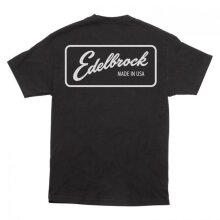 Edelbrock EDL289073 Lineage Made in USA Mens Short Sleeve T-Shirt, Black - Small