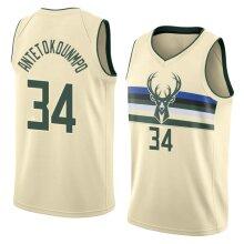 Milwaukee Bucks Giannis Antetokounmpo Men's Basketball Jersey Sport Shirts Sleeveless T-Shirt