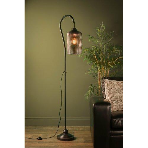 Retro Industrial Lattice Floor Lamp Vintage Style Iron LED Light