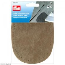 Prym 14 x 10 cm 2-Piece Imitation Suede Patches for Ironing/Sewing-On, Stone