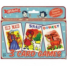 3Pks Childrens Classic Card Games Old Maid Snap Donkey Stocking Filler