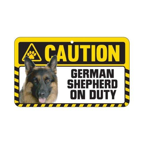 German Shepard Caution Sign