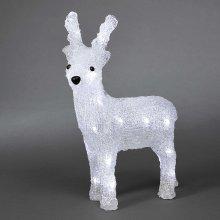 Battery LED Acrylic Reindeer - 24 LEDs - 32cm high - 3D Christmas Decoration - 6158-203