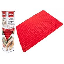 Silicone Pyramid Oven Baking Sheet Tray Mat Non Stick Low Fat Cooking - Pan -  tray silicone cooking mat oven baking pyramid pan non stick fat