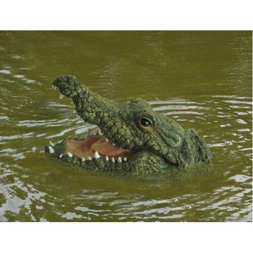 Crocodile Head Garden Pond Feature Reptile Animal Ornament Floating