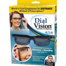 NEW DIAL VISION ADJUSTABLE LENS EYES GLASSSES FOCUS READING TV DRIVING