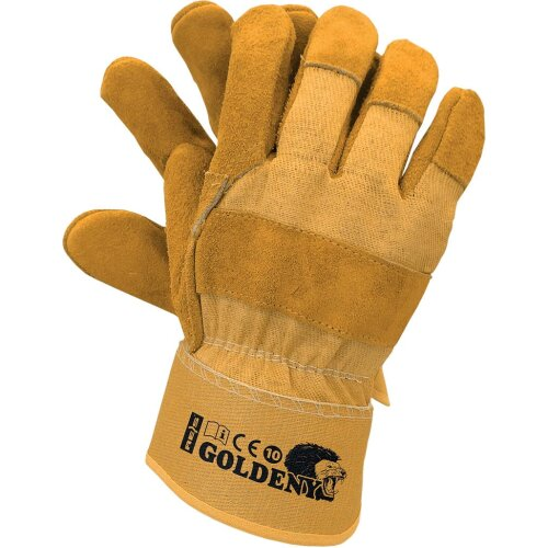 GOLDENY Top Quality Leather Rigger Work Safety Gloves Size10