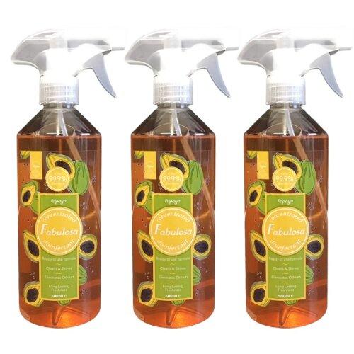 Fabulosa Disinfectant Spray Papaya 500 ml Vegan Three Pack