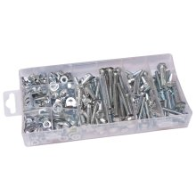 460 Piece Nut And Washer Assortment - Assorted Blue Spot Bolt Set M5 M8 Plated -  washer nut assorted blue spot 460 piece bolt set m5 m8 plated nuts