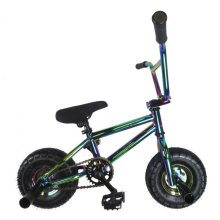 New Limited Edition 1080 Kids Stunt Freestyle Mini BMX Bike Chrome Black White