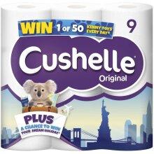 Cushelle 9 Toilet Roll, White