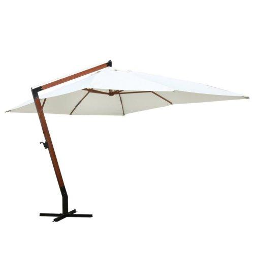 vidaXL White Hanging Parasol | Garden Parasol 3 x 4 m
