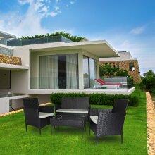 4 Seat Home Garden Rattan Furniture Set