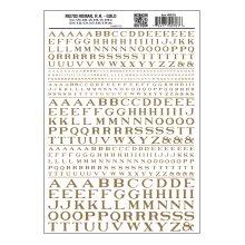Roman RR Gold Dry transfer Sheet – Woodland Scenics MG703 - free post F1