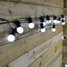 9.5m Indoor & Outdoor Festoon LED Lights - 100 Cool White LED Within 20 Bulbs