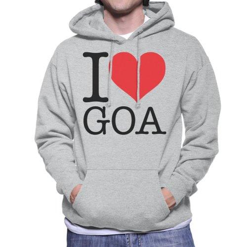 Beach Destinations I Love Goa Men's Hooded Sweatshirt